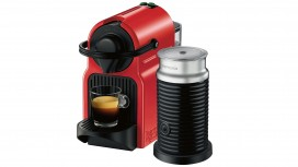 Nespresso Inissia Coffee Machine with Milk Frother - Red