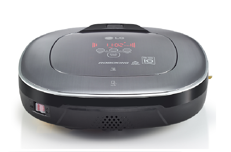 Rear view of the LG smart robotic vacuum